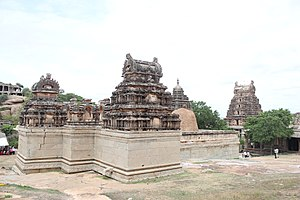 Vijayanagara architecture - Typical dravidian style Shikhara (superstructure) over shrines at the Raghunatha temple in Hampi