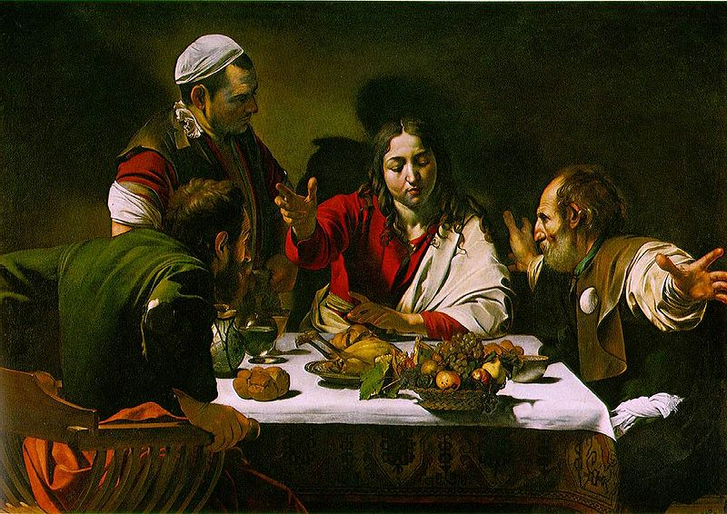 Ficheiro:Supper at Emmaus by Caravaggio.jpg