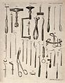 Surgical instruments. Engraving by Andrew Bell. Wellcome V0016374.jpg