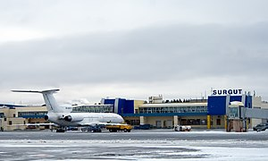Surgut International Airport - The main terminal of Surgut Airport.