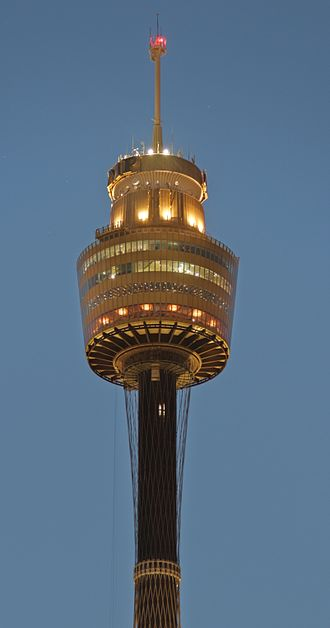 Sydney Tower - The tower at sunset