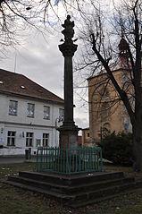 Maria column in Třebenice (Litoměřice District)