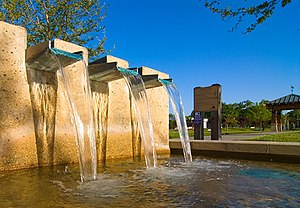 Windsor, California - Town Green Fountain