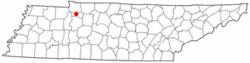 Location in the state of Tennessee