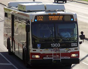 The Toronto Transit Commission's bus #1303, a ...