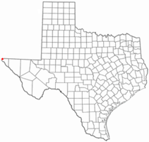 Location of Anthony within Texas