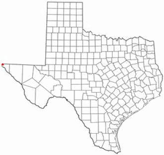 Anthony, Texas - Image: TX Map doton Anthony
