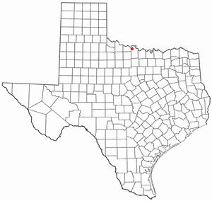 Dean, Texas - Image: TX Map doton Dean