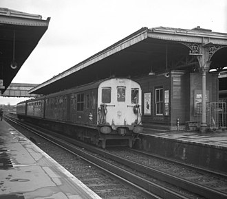 North Downs Line - Class 206 3R unit at Guildford station, June 1979