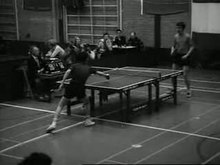 Archivo:Tafeltennis-interland Nederland-China Weeknummer, 77-52 - Open Beelden - 8926.ogv