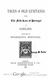 Francisco Adolfo Coelho: Tales of old Lusitania, from the folk-lore of Portugal