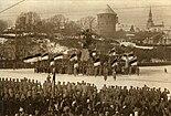 Észtország első függetlenség napi ünnepsége Tallinnban