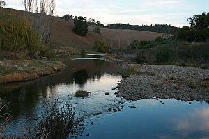 Tambo River (Victoria) - The Tambo River river crossing near Tambo Crossing