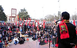 2013 Anti–Sri Lanka protests - Noted political leader and Tamil activist Seeman addressing a Tamil diaspora gathering in March 2013