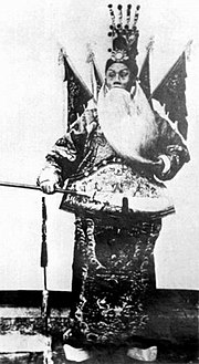 Actor Tan Xinpei in The Battle of Dingjunshan, 1905