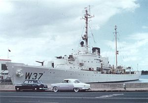 Treasury-class cutter - USCG Taney at Honolulu in 1958