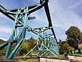 Teil der Schienenkonstruktion Schwebebahn Dresden Loschwitz - part of steel structure.jpg