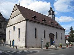 Temple Saint-Georges de Montbéliard - Montbéliard (Монбельяр), Франш-Конте, Франция - достопримечательности, путеводитель по городу. Что посмотреть в Монбельяре.