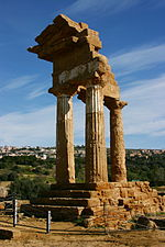 Temple of the Dioscuri - Valle dei Templi - Agrigento - Italy 2015 (4).JPG