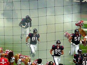 2007 Houston Texans season - Texans players enter the field against Tampa Bay