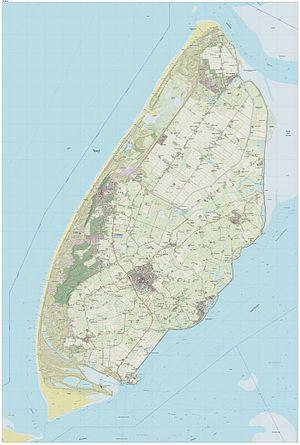 Texel - 2014 map of Texel