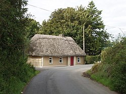 Thatched roof cottage near Aglish