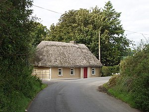 Aglish - Image: Thatched cottage near Aglish geograph.org.uk 1480959