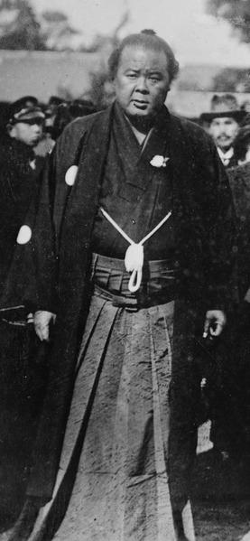 The 25th Yokozuna Nishinoumi Kajirō II ca. 1916