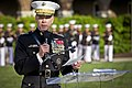 The 35th Commandant of the Marine Corps, Gen. James F. Amos, gives an address during the retirement ceremony for Gen. George J. Flynn, not shown, at Marine Barracks Washington in Washington, D.C., May 9, 2013 130509-M-LU710-289.jpg