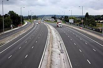 A494 road - Image: The A494 Heading towards Queensferry 3062557 9203c 9d 5
