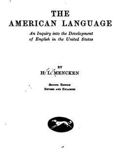 Image illustrative de l'article The American Language