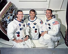 Posádka Apolla 7 (zleva: Eisele, Schirra a Cunningham)