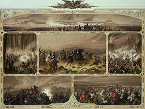 Battle of Königgrätz - The Battle of Königgrätz, 3 July 1866 by Christian Sell. Lithograph, 1866.