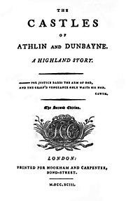 The Castles Of Athlin And Dunbayne: Ann.