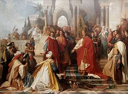 The Court of Emperor Frederick II in Palermo Arthur von Ramberg.jpg