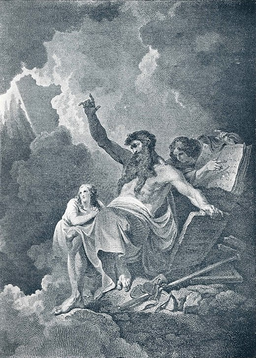 1896 illustration depicting Moses receiving the commandments The Giving of the Law.jpg