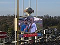 "The Immortal Christopher Lloyd (""Doc Brown""), Dodger Stadium, Los Angeles, California (14331276979).jpg"