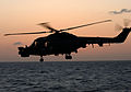 The Lynx Mk8 of HMS Campbeltown, a Type 22 Frigate, took part in an exercise over the Red Sea. MOD 45147445.jpg