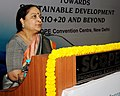"The Minister of State (Independent Charge) for Environment and Forests, Smt. Jayanthi Natarajan addressing on ""Corporate Perspective on Sustainable Development Rio + 20 and Beyond"", in New Delhi on March 21, 2012.jpg"
