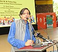 The Minister of State for Human Resource Development, Dr. Shashi Tharoor addressing at the launch of the RTE Anthem, in New Delhi on August 29, 2013.jpg