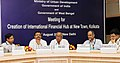 The Minister of State for Urban Development, Prof. Saugata Ray chairing a meeting for creation of a financial hub in New town, Kolkata, West Bengal, in New Delhi. The Minister in charge of UD and Municipal Affairs.jpg