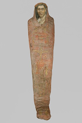 Encaustic painting - The Mummy of Demetrios, 95-100 C.E.,11.600a-b, Brooklyn Museum