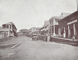 Kumasi - Kings Way Road in Kumasi, 1925.