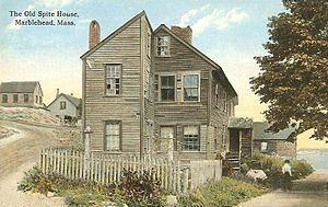 Spite house - The Old Spite House of Marblehead, Massachusetts in 1912