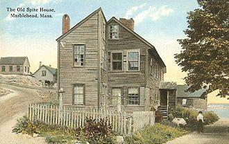 Spite house - The Old Spite House of Marblehead, Massachusetts in 1912