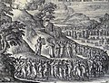 The Phillip Medhurst Picture Torah 463. Moses delivering the tables of the Law. Exodus cap 34 v 29. Borcht.jpg