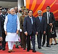 The Prime Minister, Shri Narendra Modi arrives at Sir Seewoosagar Ramgoolam Airport, in Mauritius on March 11, 2015 (1).jpg