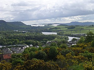 Gowrie - Eastern outskirts of Perth viewed from Craigie Hill. The River Tay and Friarton Bridge are both visible.