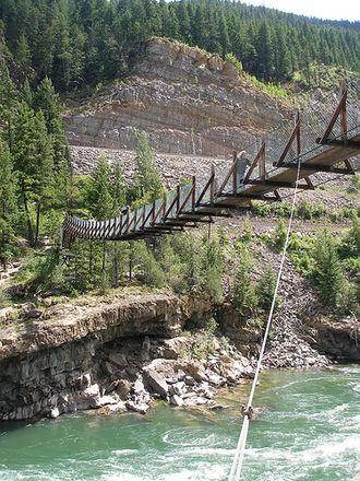 Troy, Montana - The Swinging Bridge, Troy, Montana