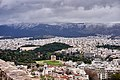 The Temple of Zeus and the Panathenaic Stadium from the Acropolis on December 29, 2019.jpg